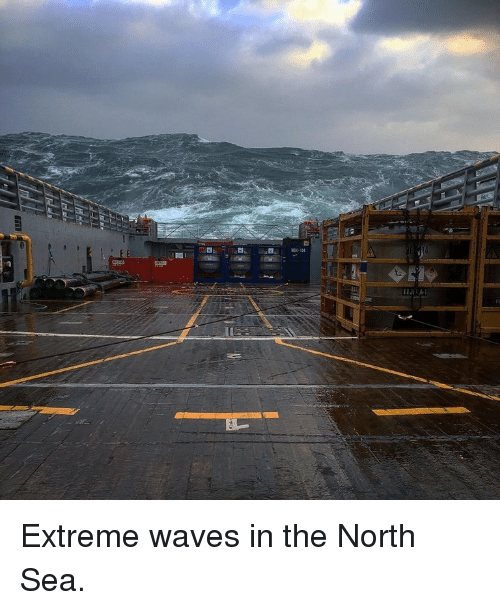 north sea: <p>Extreme waves in the North Sea.</p>