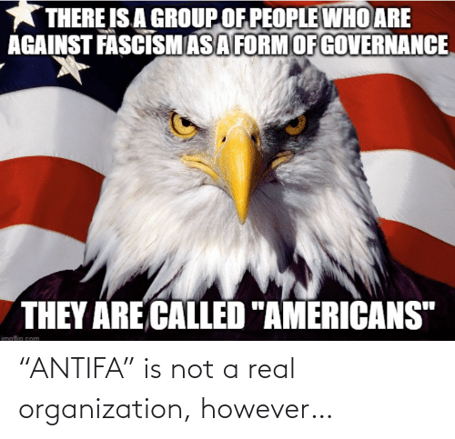 """Not A: """"ANTIFA"""" is not a real organization, however…"""