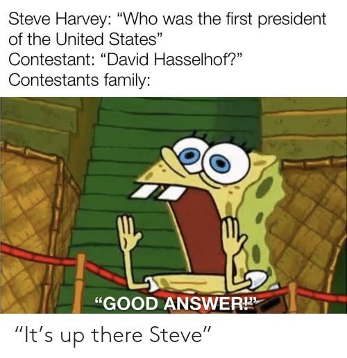 """steve: """"It's up there Steve"""""""