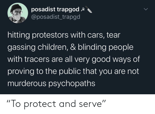 """Protect: """"To protect and serve"""""""