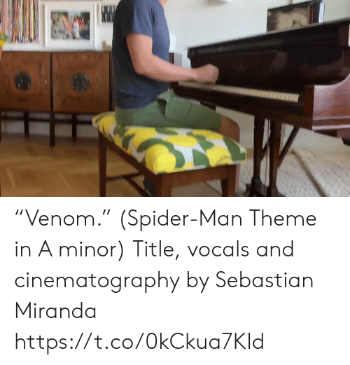 "Memes, Spider, and SpiderMan: ""Venom."" (Spider-Man Theme in A minor) Title, vocals and cinematography by Sebastian Miranda https://t.co/0kCkua7KId"