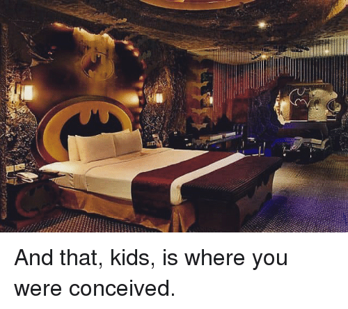 """Conceivment: が""""h And that, kids, is where you were conceived."""