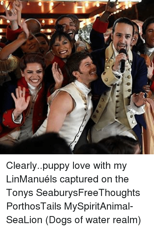 puppies love: もク  u Clearly..puppy love with my LinManuéls captured on the Tonys SeaburysFreeThoughts PorthosTails MySpiritAnimal-SeaLion (Dogs of water realm)