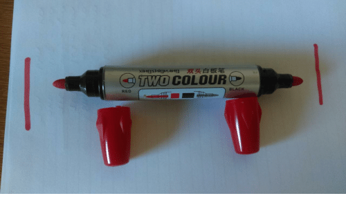 Colour: 双头白板笔  xiиgsиigиAИЯ  O TWO COLOUR  BLACK  RED