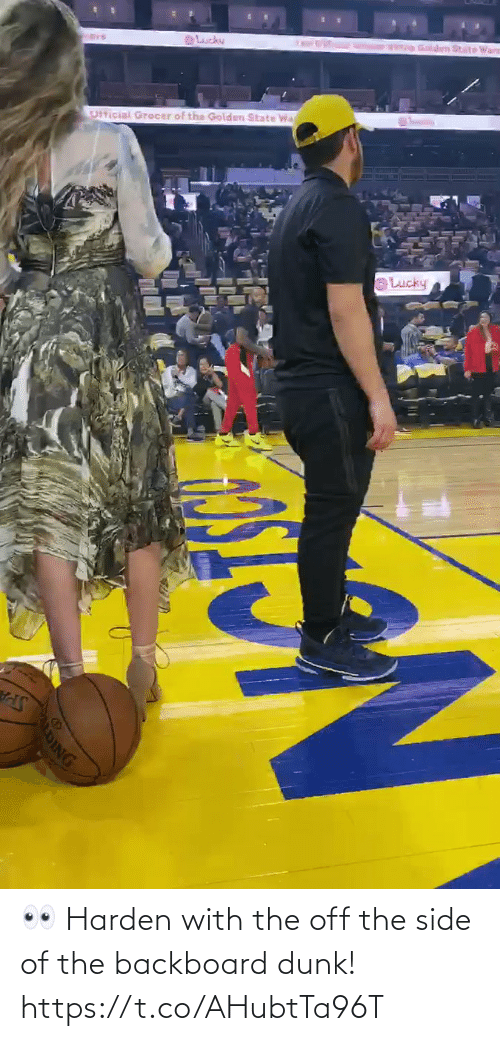 harden: 👀 Harden with the off the side of the backboard dunk!  https://t.co/AHubtTa96T