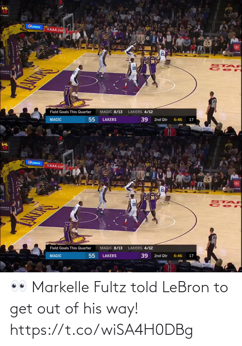get out: 👀 Markelle Fultz told LeBron to get out of his way!  https://t.co/wiSA4H0DBg