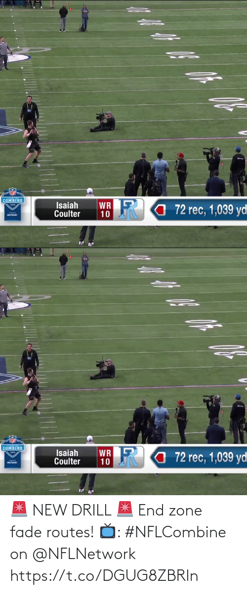 zone: 🚨 NEW DRILL 🚨 End zone fade routes!  📺: #NFLCombine on @NFLNetwork https://t.co/DGUG8ZBRln
