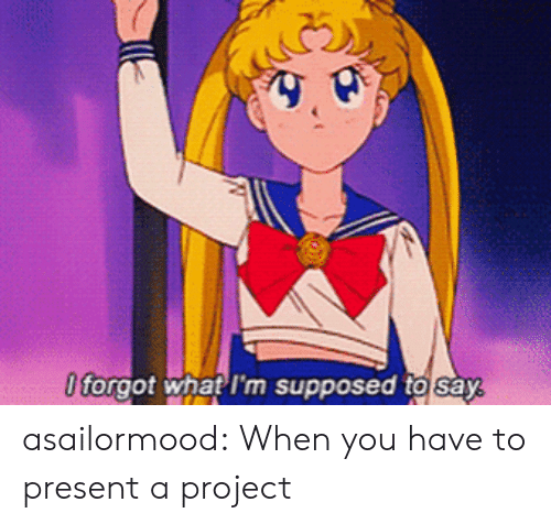 Tumblr, Blog, and Com: 0 forgot what I'm supposed to say asailormood:  When you have to present a project