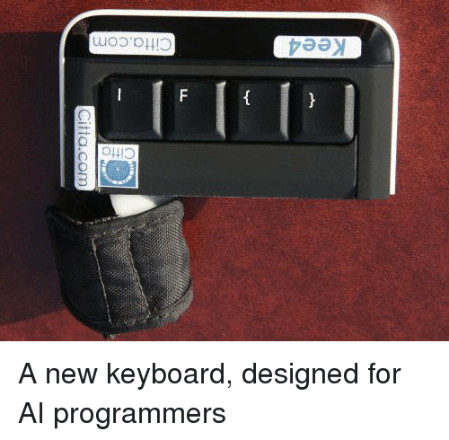 Keyboard, Com, and New: 0  itto  Kee4  Citta.com A new keyboard, designed for AI programmers