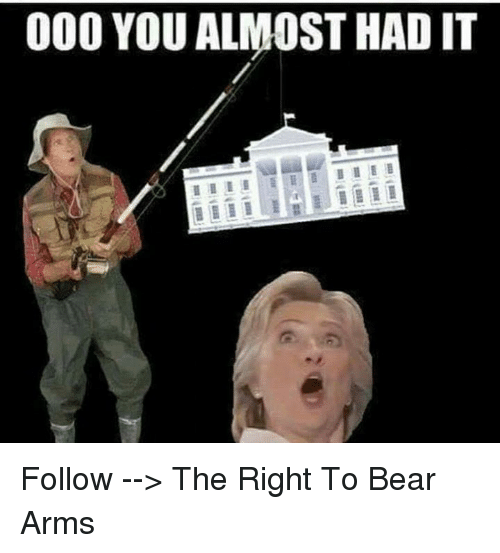 Almost Had It: 000 YOU ALMOST HAD IT Follow --> The Right To Bear Arms