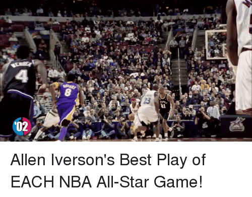nba all stars: '02 Allen Iverson's Best Play of EACH NBA All-Star Game!