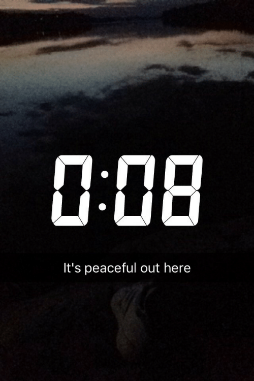 Peaceful: 1:08  It's peaceful out here