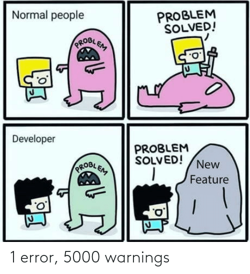 error: 1 error, 5000 warnings
