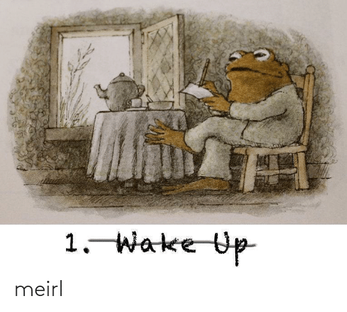 wake up: 1. Wake Up meirl