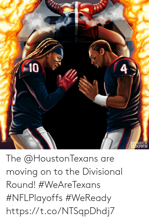 check: 10  CHECK  EDOWN The @HoustonTexans are moving on to the Divisional Round! #WeAreTexans #NFLPlayoffs  #WeReady https://t.co/NTSqpDhdj7