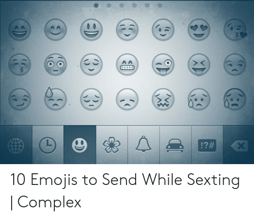 10 Emojis to Send While Sexting | Complex | Complex Meme on