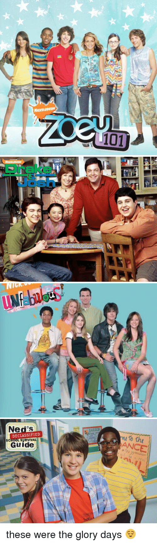 glory days: 101   CLI   C  Chi))  AwaIN   Ned's  DECLASSIFIED  SCHOOL SURVIVAL  Guide  to the these were the glory days 😌