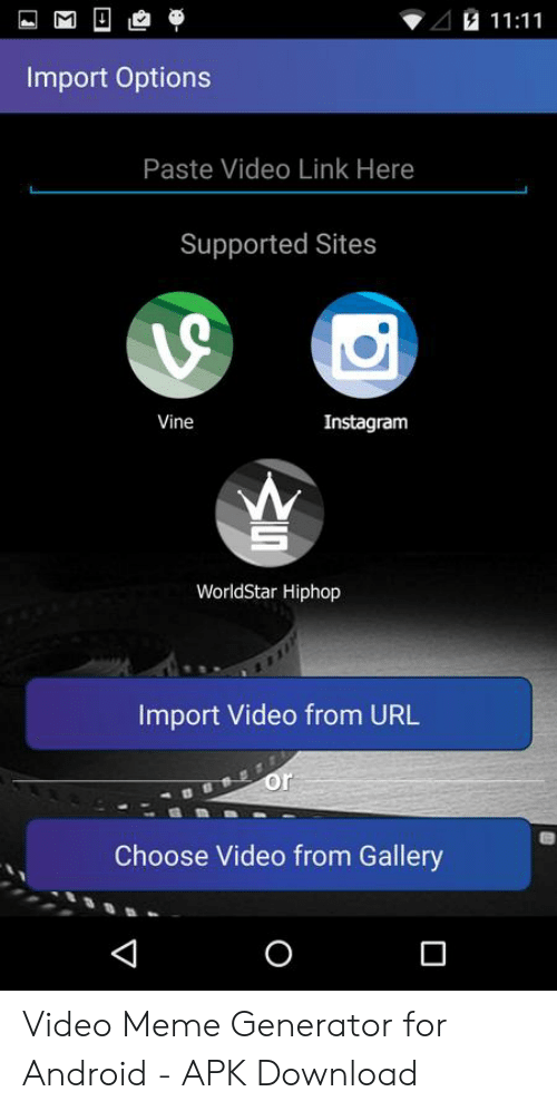 1111 Import Options Paste Video Link Here Supported Sites
