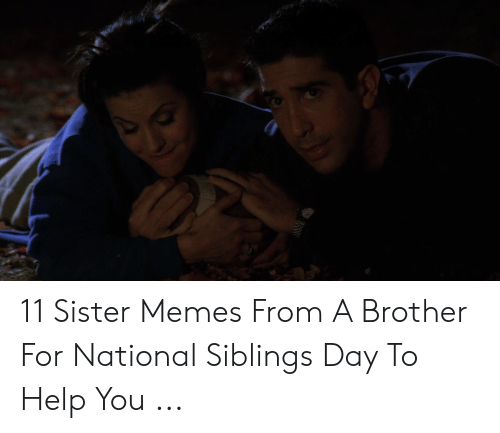 11 Sister Memes From a Brother for National Siblings Day to