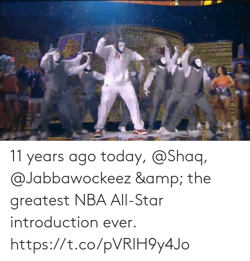 nba all star: 11 years ago today, @Shaq, @Jabbawockeez & the greatest NBA All-Star introduction ever.   https://t.co/pVRlH9y4Jo