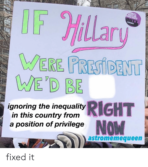 inequality: 1199SEIU  LLar  EBE  ignoring the inequality  in this country from  a position of privilege  astromemequeen fixed it