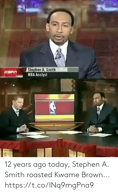 Stephen: 12 years ago today, Stephen A. Smith roasted Kwame Brown... https://t.co/lNq9mgPna9