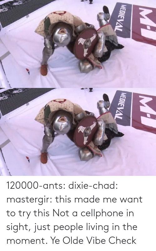 The Moment: 120000-ants:  dixie-chad:   mastergir: this made me want to try this  Not a cellphone in sight, just people living in the moment.    Ye Olde Vibe Check