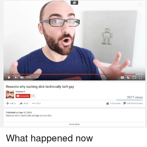 13551444 Reasons Why Sucking Dick Technically Isnt Gay Vsauce