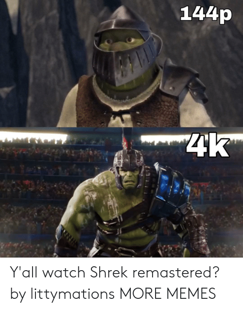 144P 4K: 144p  4k Y'all watch Shrek remastered? by littymations MORE MEMES