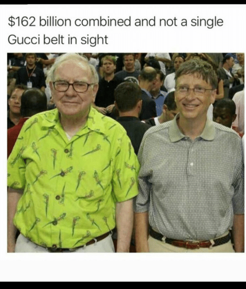 Gucci, Single, and Billion: $162 billion combined and not a single  Gucci belt in sight