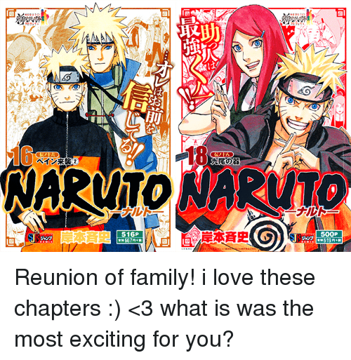 Memes, Naruto, and Excite: 18 NARUTO NARuTO 516P 50OP Reunion of family!