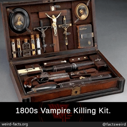 Facts, Memes, and Weird: 1800s Vampire Killing Kit.  weird-facts.org  @factsweird