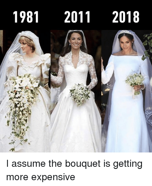 Dank, 🤖, and More: 1981 20112018 I assume the bouquet is getting more expensive