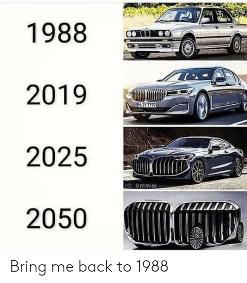 Back, Bring, and 2019: 1988  2019  M.21 7727  2025  IG BMWM  2050 Bring me back to 1988