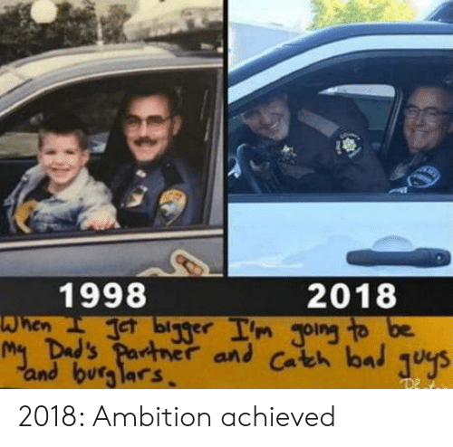 gong: 1998  2018  Im gong to be  when b  and burglars 2018: Ambition achieved