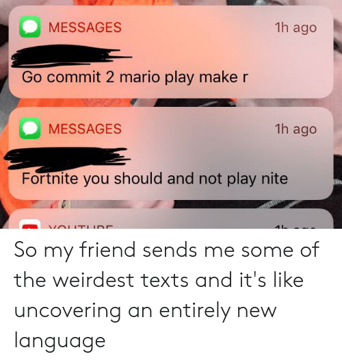 1h Ago MESSAGES Go Commit 2 Mario Play Make R MESSAGES 1h Ago