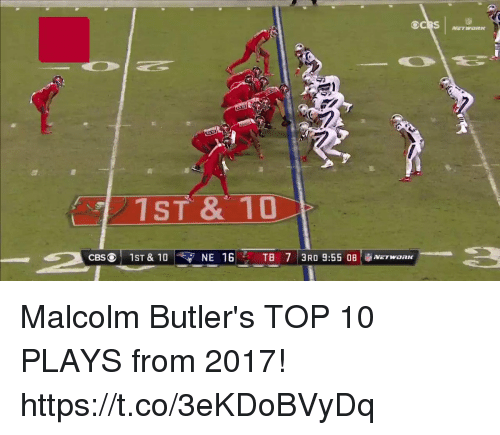 Butlers: 1ST & 10 Malcolm Butler's TOP 10 PLAYS from 2017! https://t.co/3eKDoBVyDq