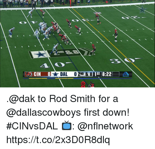 Memes, 🤖, and Down: 1ST 8:22  2 .@dak to Rod Smith for a @dallascowboys first down! #CINvsDAL  📺: @nflnetwork https://t.co/2x3D0R8dlq