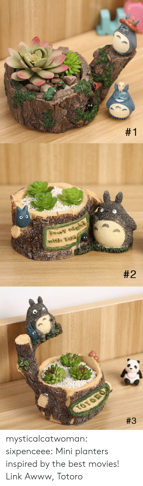 Movies, Tumblr, and Best: mysticalcatwoman:  sixpenceee:  Mini planters inspired by the best movies! Link  Awww, Totoro