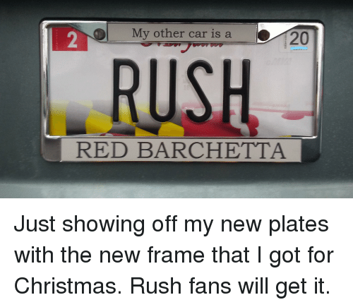 Christmas, Rush, and Got: 2  My other car is a  201  RED BARCHETTA