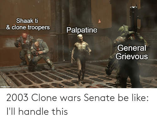 clone wars: 2003 Clone wars Senate be like: I'll handle this