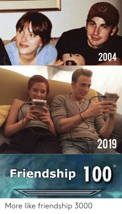 Friendship, More, and Like: 2004  2019  Friendship 100 More like friendship 3000