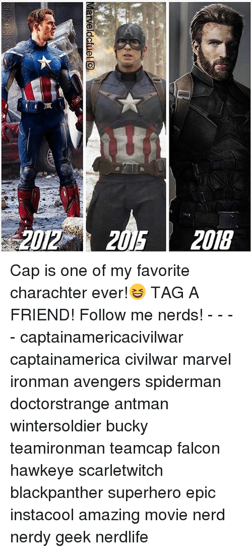 Capping: 2012 2015 2018 Cap is one of my favorite charachter ever!😆 TAG A FRIEND! Follow me nerds! - - - - captainamericacivilwar captainamerica civilwar marvel ironman avengers spiderman doctorstrange antman wintersoldier bucky teamironman teamcap falcon hawkeye scarletwitch blackpanther superhero epic instacool amazing movie nerd nerdy geek nerdlife