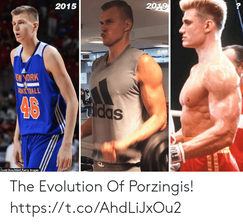dow: 2015  2019  dds  EW YORK  ASKETBALL  46  Sppm  Dayid Dow/NBAE/Getty Images The Evolution Of Porzingis! https://t.co/AhdLiJxOu2