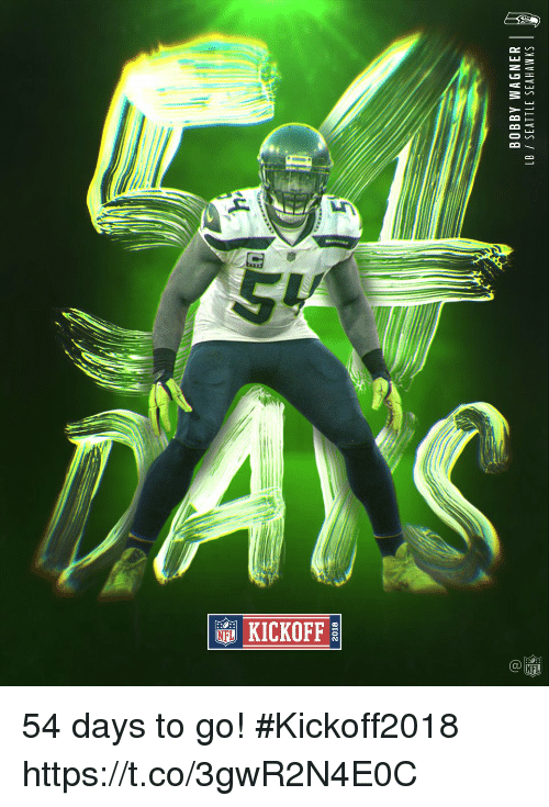 Seattle Seahawks: 2018  BOBBY WAGNER  LB / SEATTLE SEAHAWKS  2 54 days to go! #Kickoff2018 https://t.co/3gwR2N4E0C