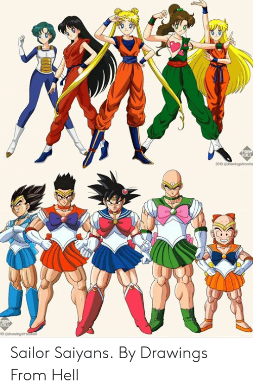 Drawings: 2019 adrawingsfromhe Sailor Saiyans.  By Drawings From Hell