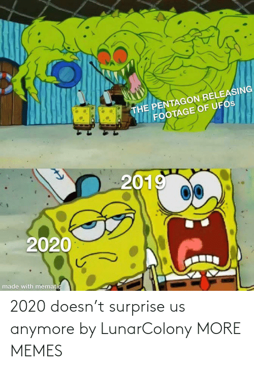 surprise: 2020 doesn't surprise us anymore by LunarColony MORE MEMES
