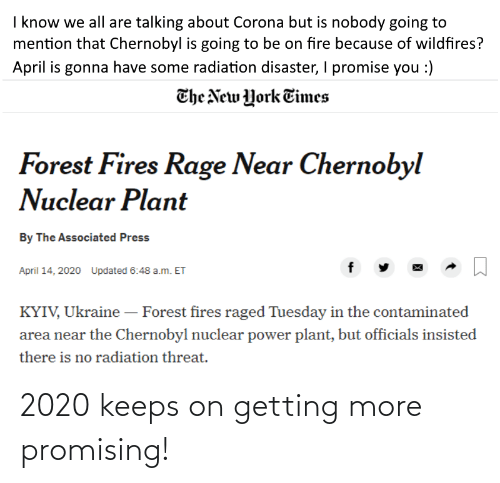 Promising: 2020 keeps on getting more promising!