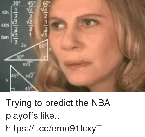 Memes, Nba, and Nba Playoffs: 21-25  2  222-21  5  01-232-33  ta Trying to predict the NBA playoffs like... https://t.co/emo91lcxyT