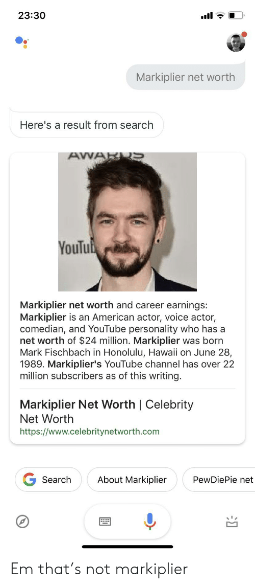 2330 Markiplier Net Worth Here's a Result From Search AWAR